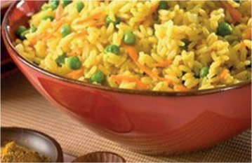 Rice with Vegetables and Curry