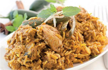 Maklouba Peas with Chicken