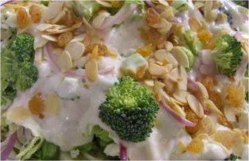 Broccoli Salad with Mayonnaise