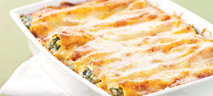 Cannelloni with Feta Cheese and Spinach